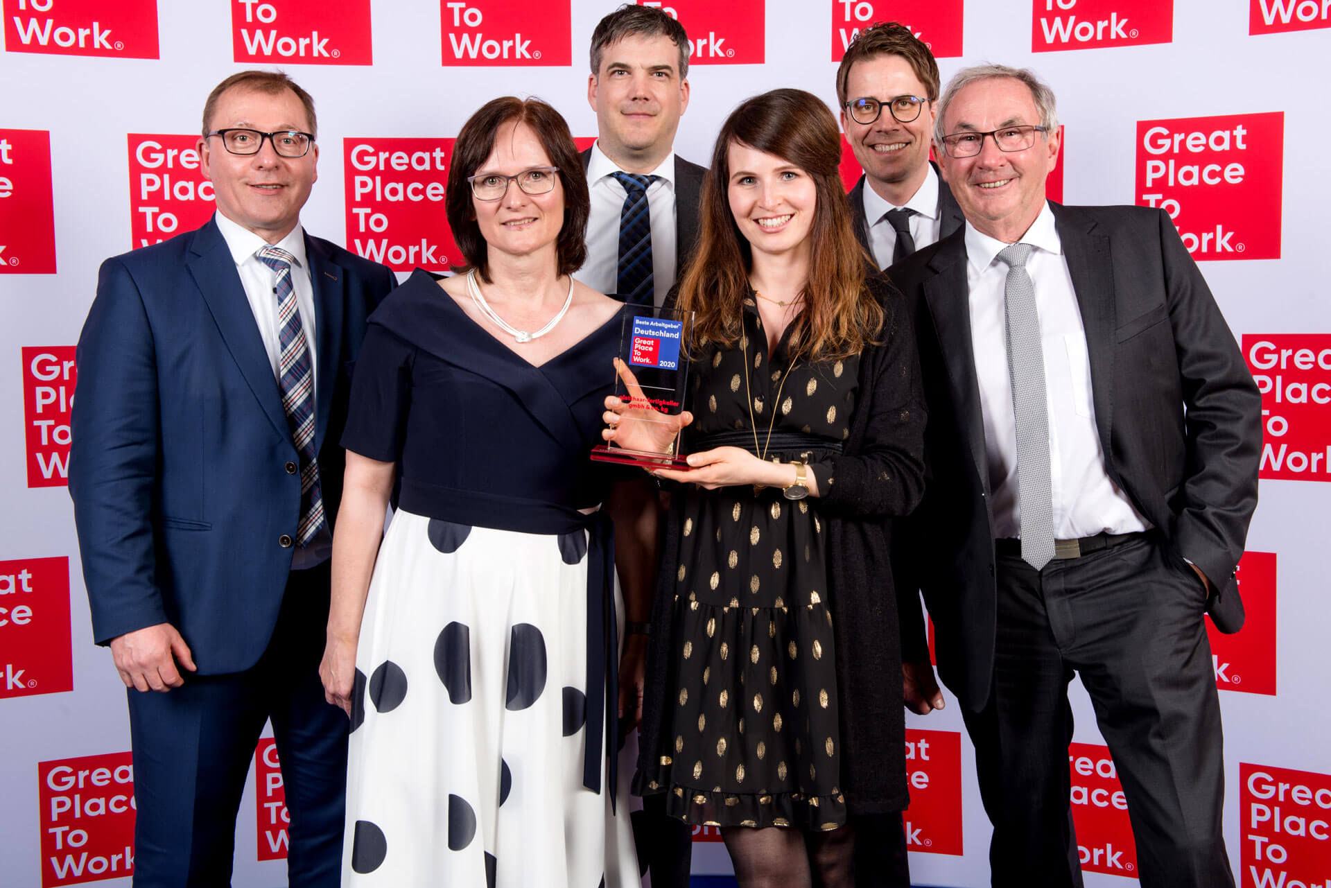 5 // with the Great Place to Work®-Award glatthaar-fertigkeller is among the best employers in Germany